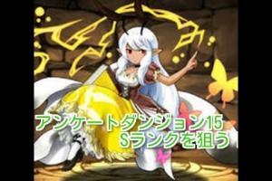 【パズドラ】アンケートダンジョン15 Sランク