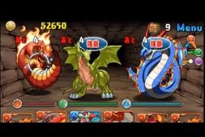 【パズドラ】 土日ダンジョン 3色限定 上級 攻略 puzzle & dragons