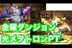 パズドラ【金曜ダンジョン】超地獄級 光メタトロンPT