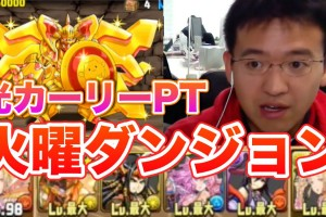 【パズドラ】火曜ダンジョン 超地獄級 HP約700万をカーリーで倒す!!