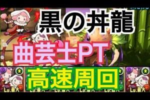 パズドラ【黒の丼龍】 超地獄級 曲芸士PT(高速周回)
