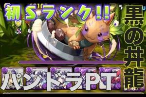 Sランククリア!【パズドラ】黒の丼龍超地獄級!【安定】パンドラPT HD