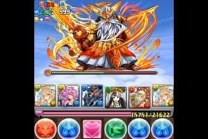 ゼウス・ヴァルカン降臨!超地獄級 麒麟・サクヤPT【パズドラ】