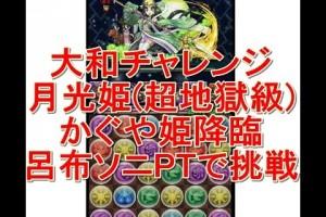 【パズドラ実況】大和チャレンジ 月光姫 超地獄級 かぐや姫降臨 呂布ソニPTで挑戦!!