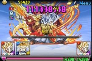「パズドラ」ゼウス.ヴァルカン降臨!超地獄級 最強戦士.超ベジット【3枚抜き】ノーコン