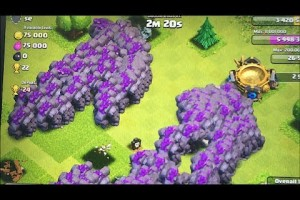 Clash of clans – 300 Golems & 300 Giants (mass Gameplay)