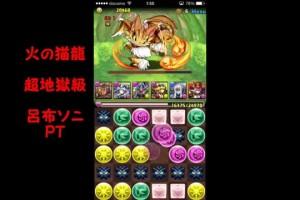 【パズドラ】火の猫龍 超地獄級 呂布ソニPT