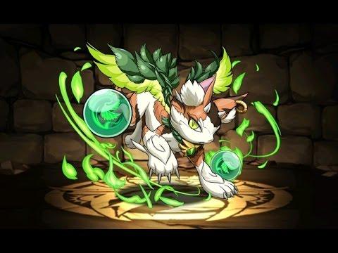木の猫龍 森猫龍 超地獄級 超ベジットPT【パズドラ】※火なし・ノーコン・ボスワンパン