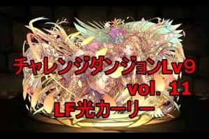 パズドラ『vol 11チャレンジダンジョンLv 9』【ノーコン】 LF光カーリー